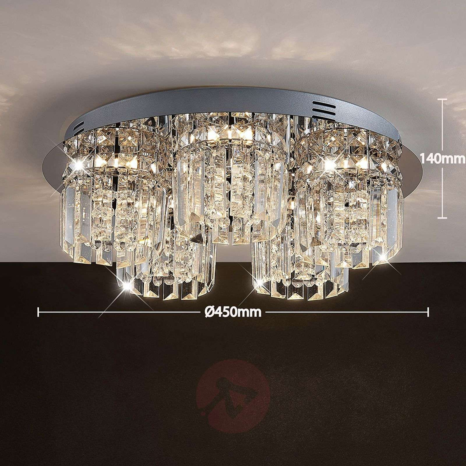 Cristal Shari Plafonnier À 5 LampesDimmable Led bm6yvIYf7g