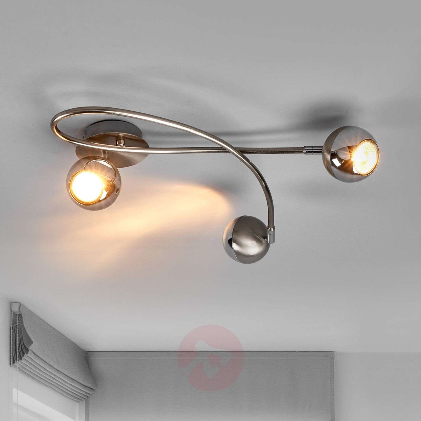 Plafonnier LED Arvin couleur nickel, 3 lampes-9970119-01