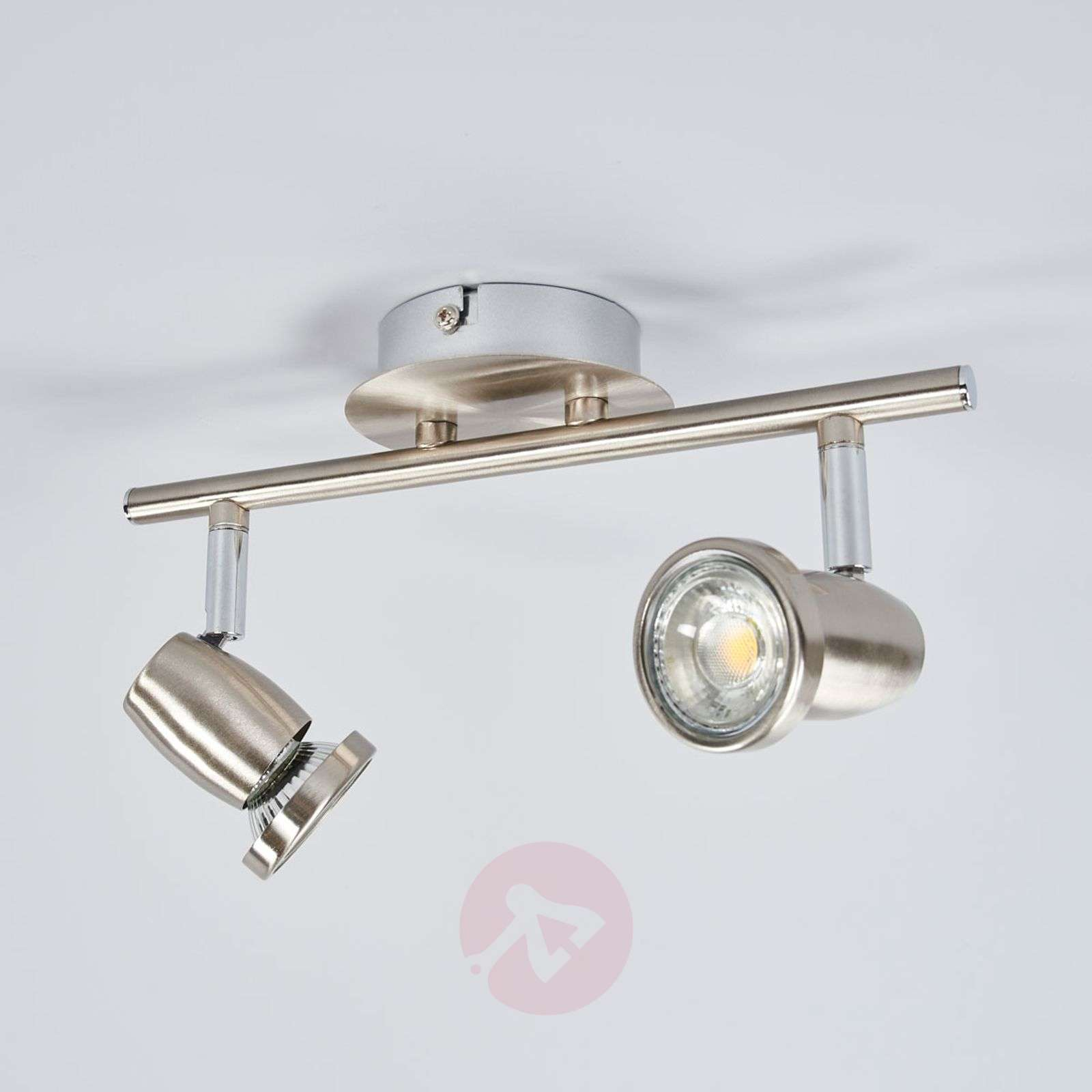 Plafonnier LED Célestine, couleur nickel mat-9954018-01