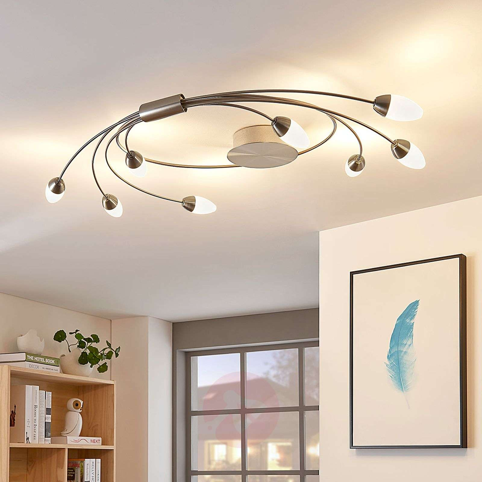 Plafonnier LED Deyan, dimmable, 8 lampes, rond-9621954-01