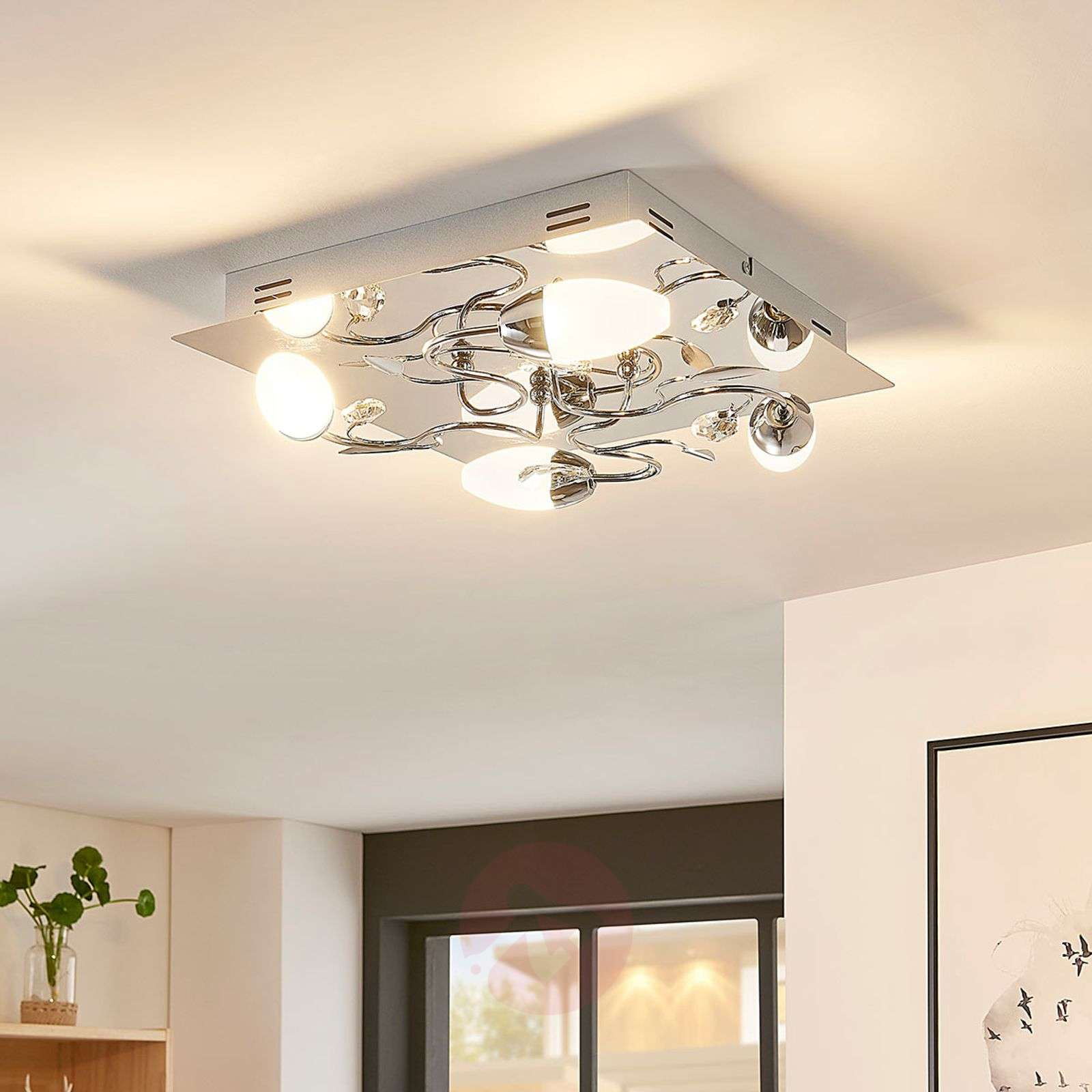 Plafonnier Lampes Led Mischa Dimmable Carré4 OilkXPZwuT