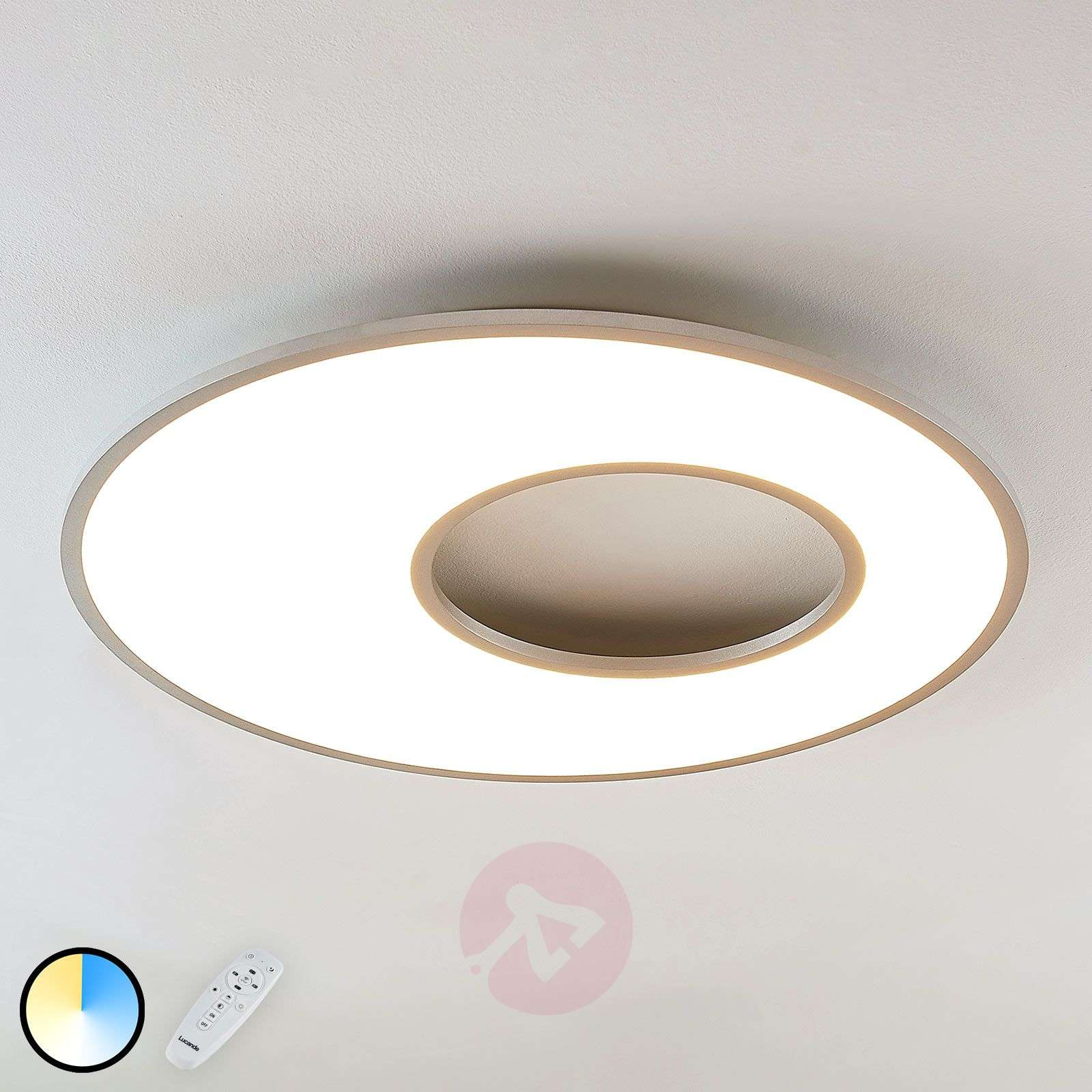 Plafonnier LED Durun, dimmable, CCT, rond, 80 cm-9956025-03
