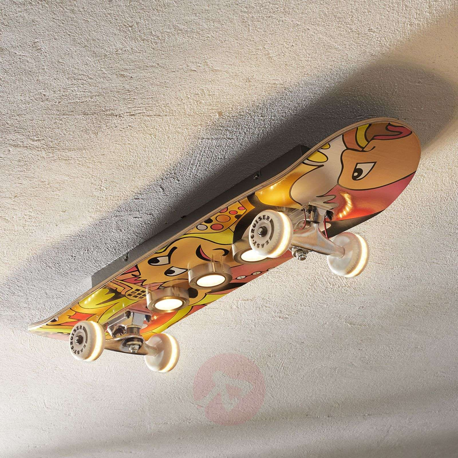 Plafonnier LED Easy Cruiser en skateboard-3025316-01