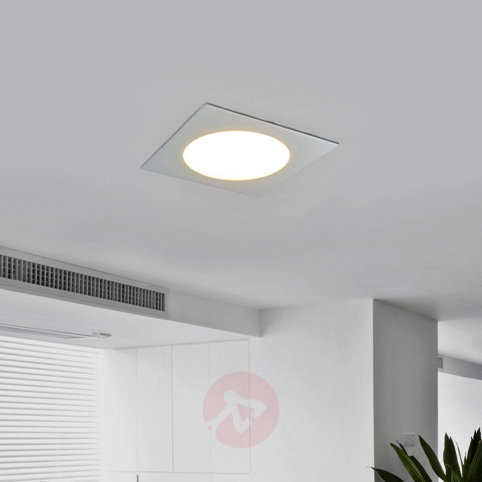 Plafonnier LED encastrable PRINCE, carré 11 W-3012182X-01