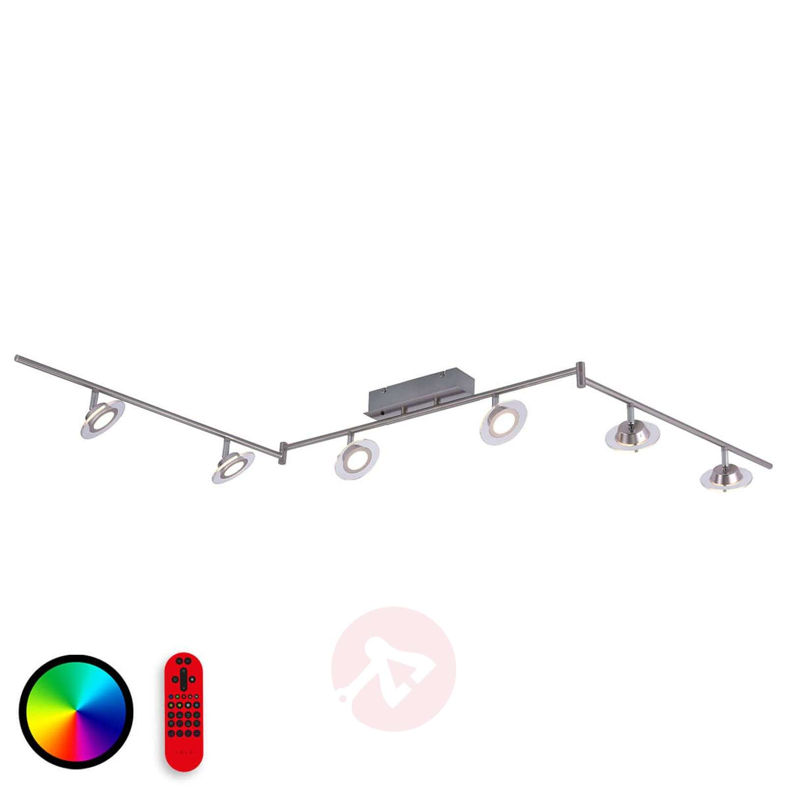 Plafonnier LED fonctionnel Lola-Mike à 6 lampes-6002849-01