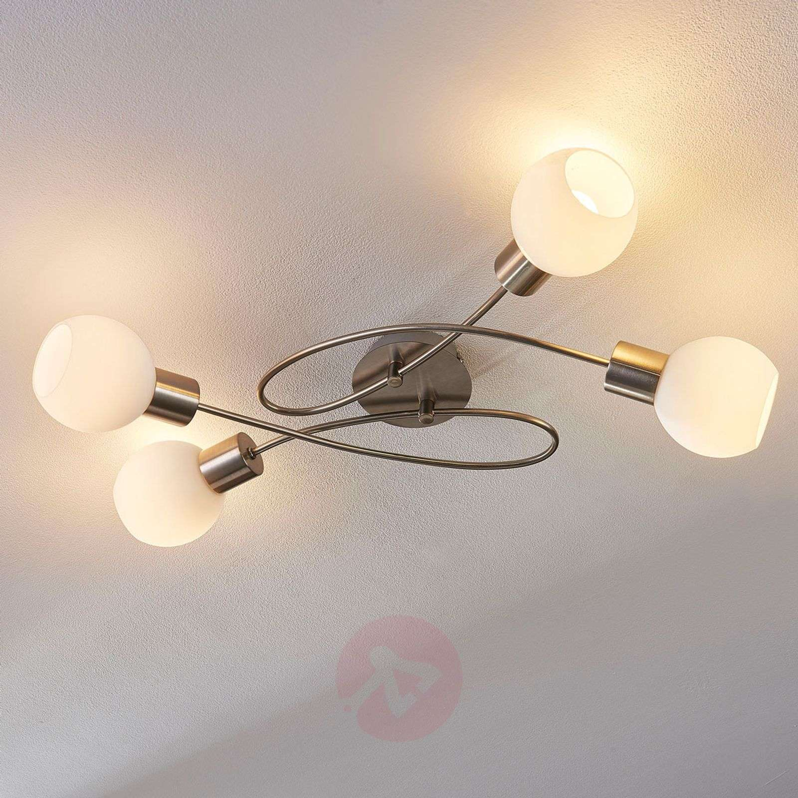 Plafonnier LED Hailey à 4 lampes, nickel-9621040-02