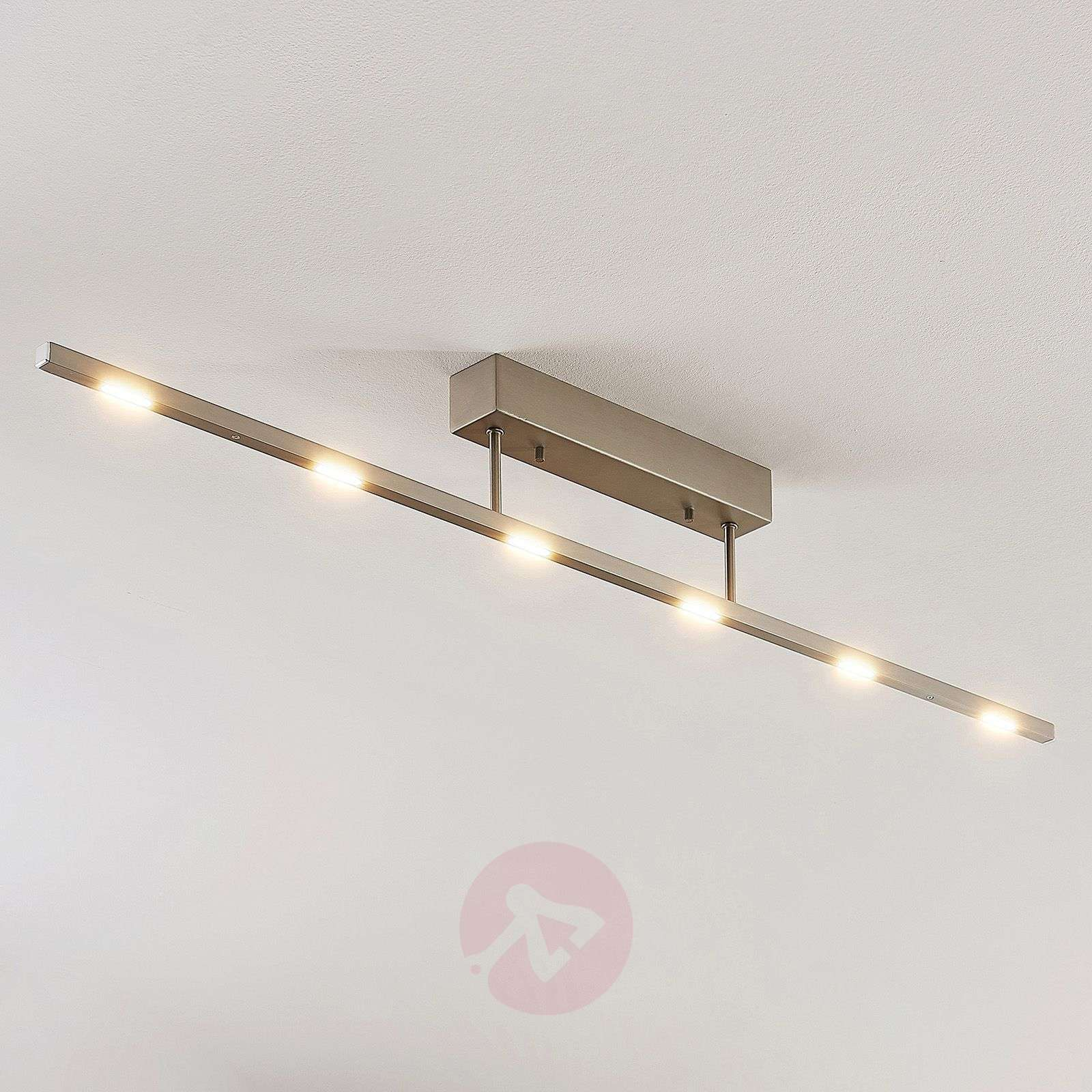 Plafonnier LED Margeau en nickel, dimmable-9624490-01
