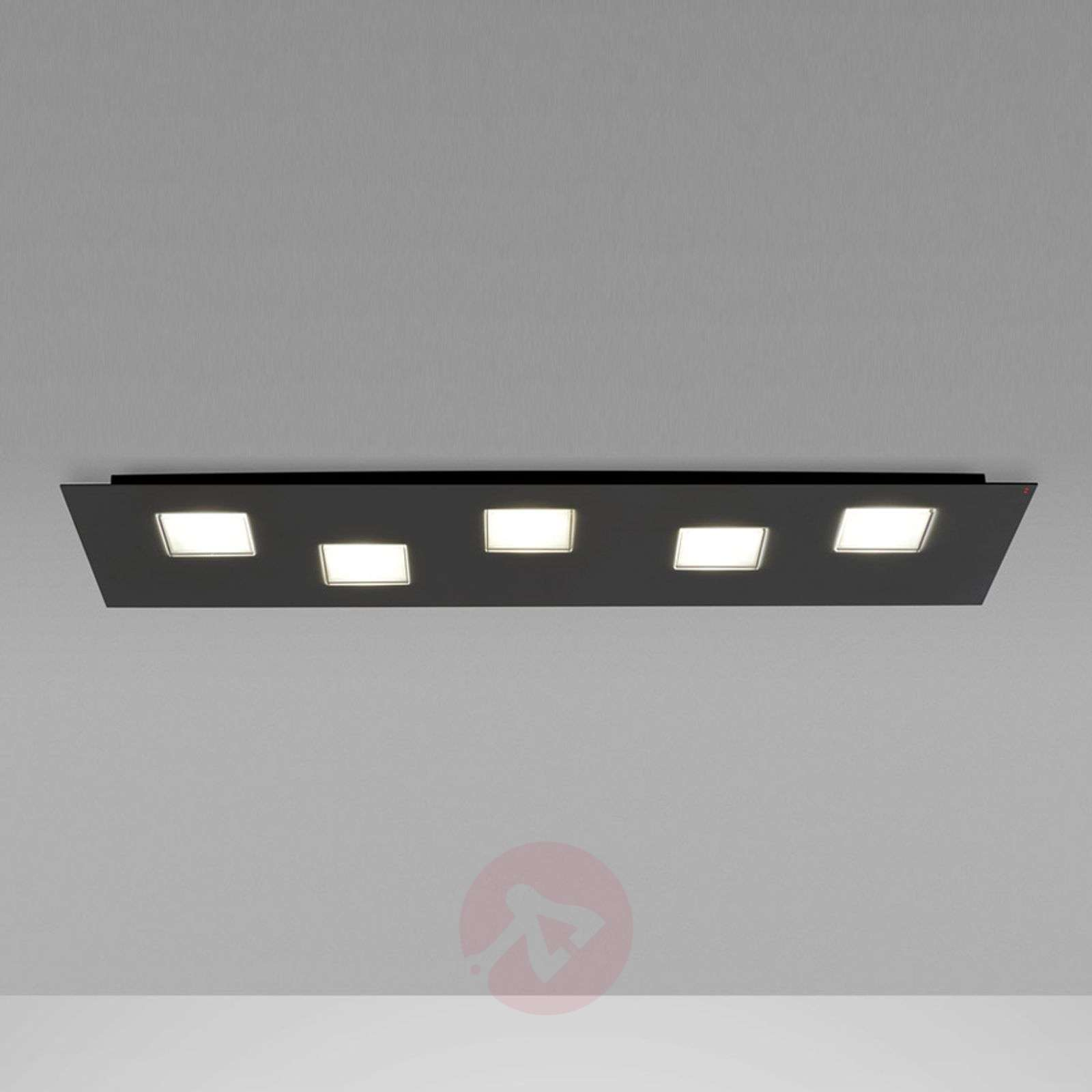 Plafonnier LED Quarter de 70 cm de long, noir-3503241-01
