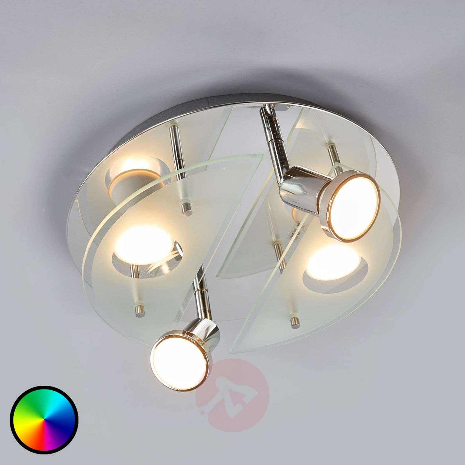 Plafonnier LED RGBW rond Cabo-C-3031999-01