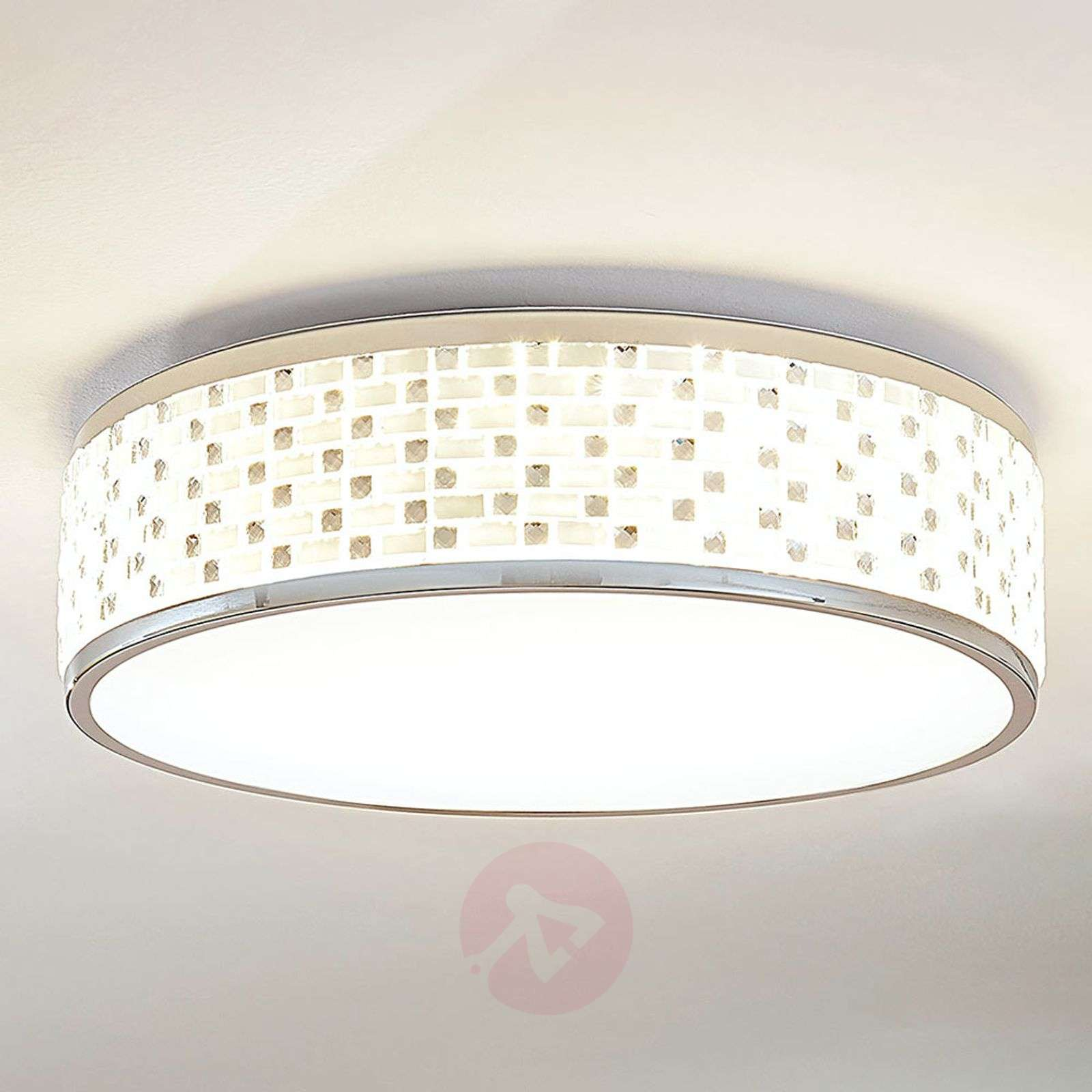 Plafonnier LED rond Glenlia, dimmable-9621966-01