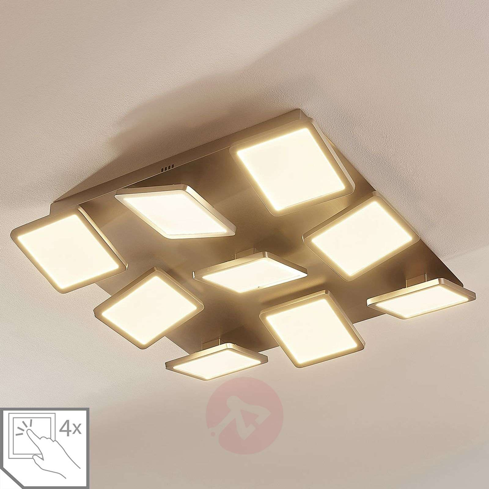Plafonnier LED Stephanie, dimmable, à 9 lampes-9621423-02