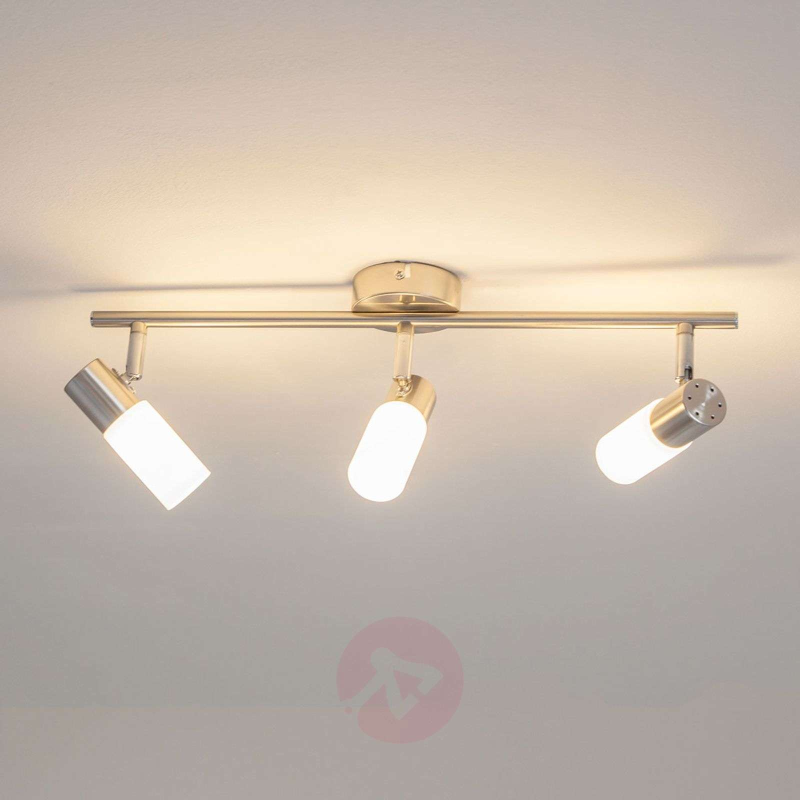 Plafonnier LED Tamia à 3 lampes de couleur nickel-9950516-01