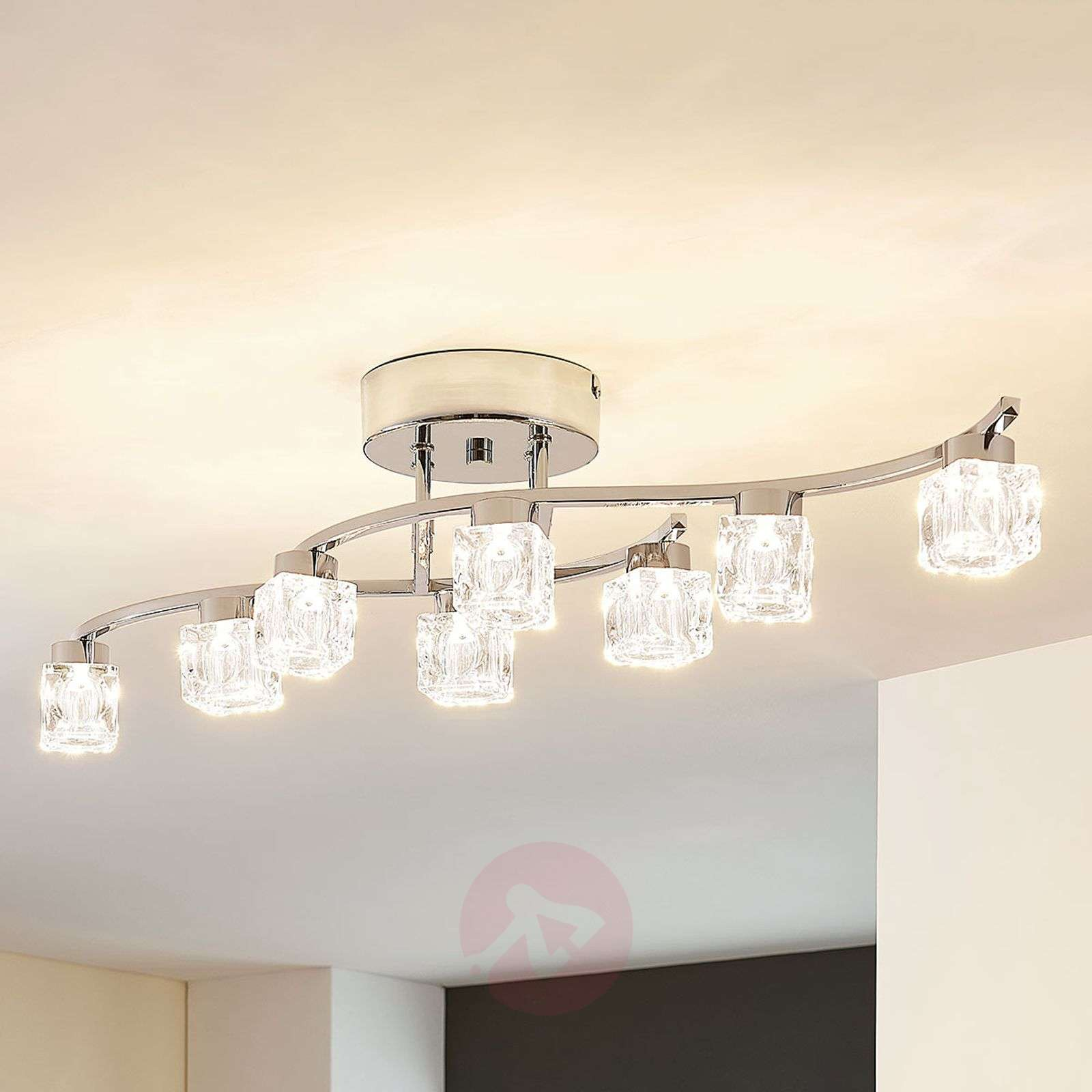 Plafonnier LED Yaro dimmable à huit lampes-9621973-01