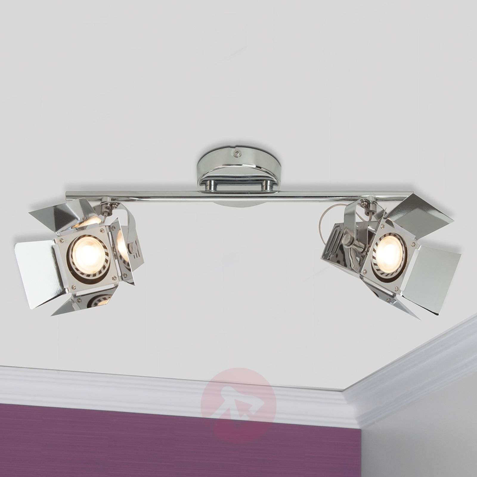 plafonnier spot led a 2 lampes movie chrome 1509129 31 5 Bon Marché Luminaire Plafonnier Spot Hht5