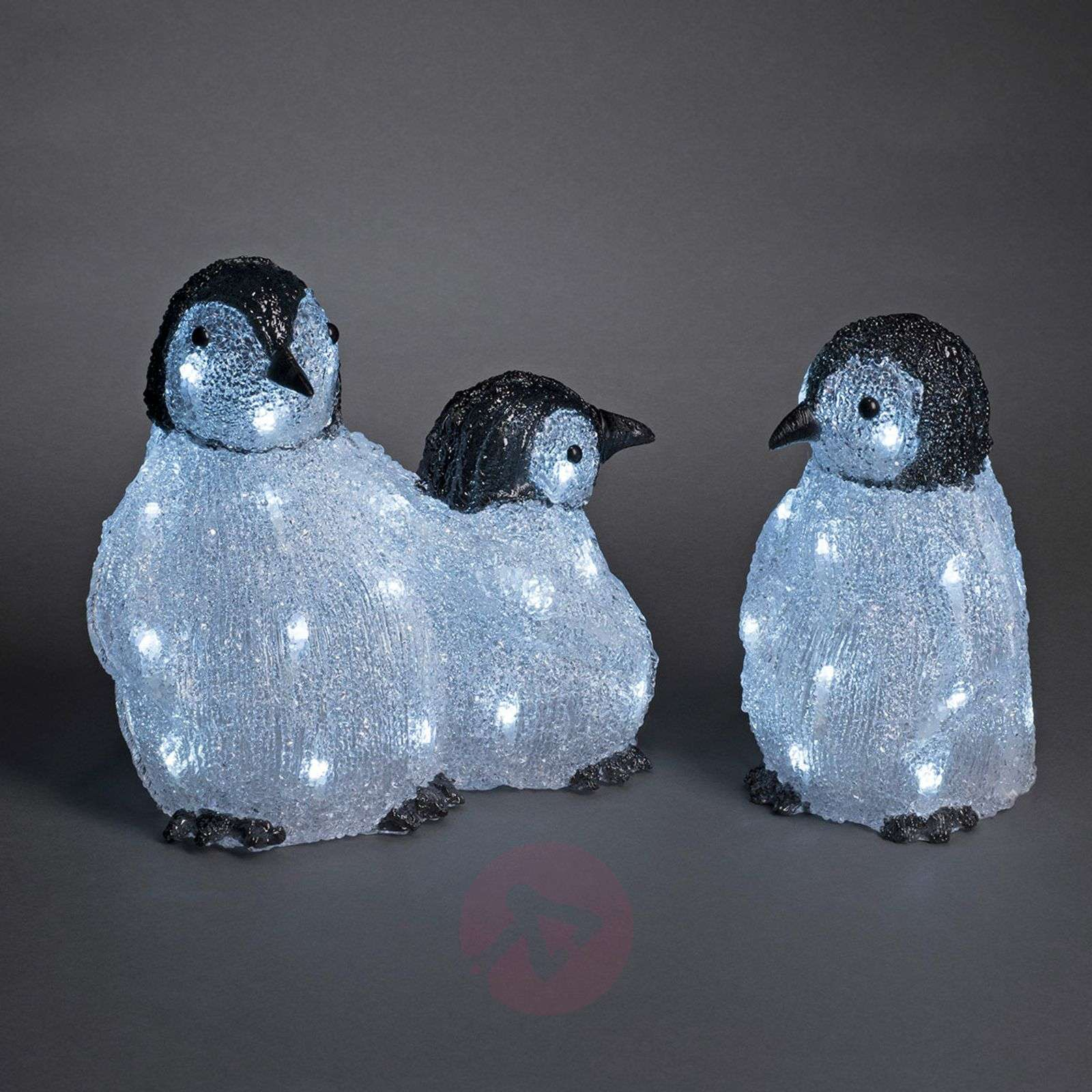 Set de 3 figurines LED acrylique Famille pingouin-5524872-01