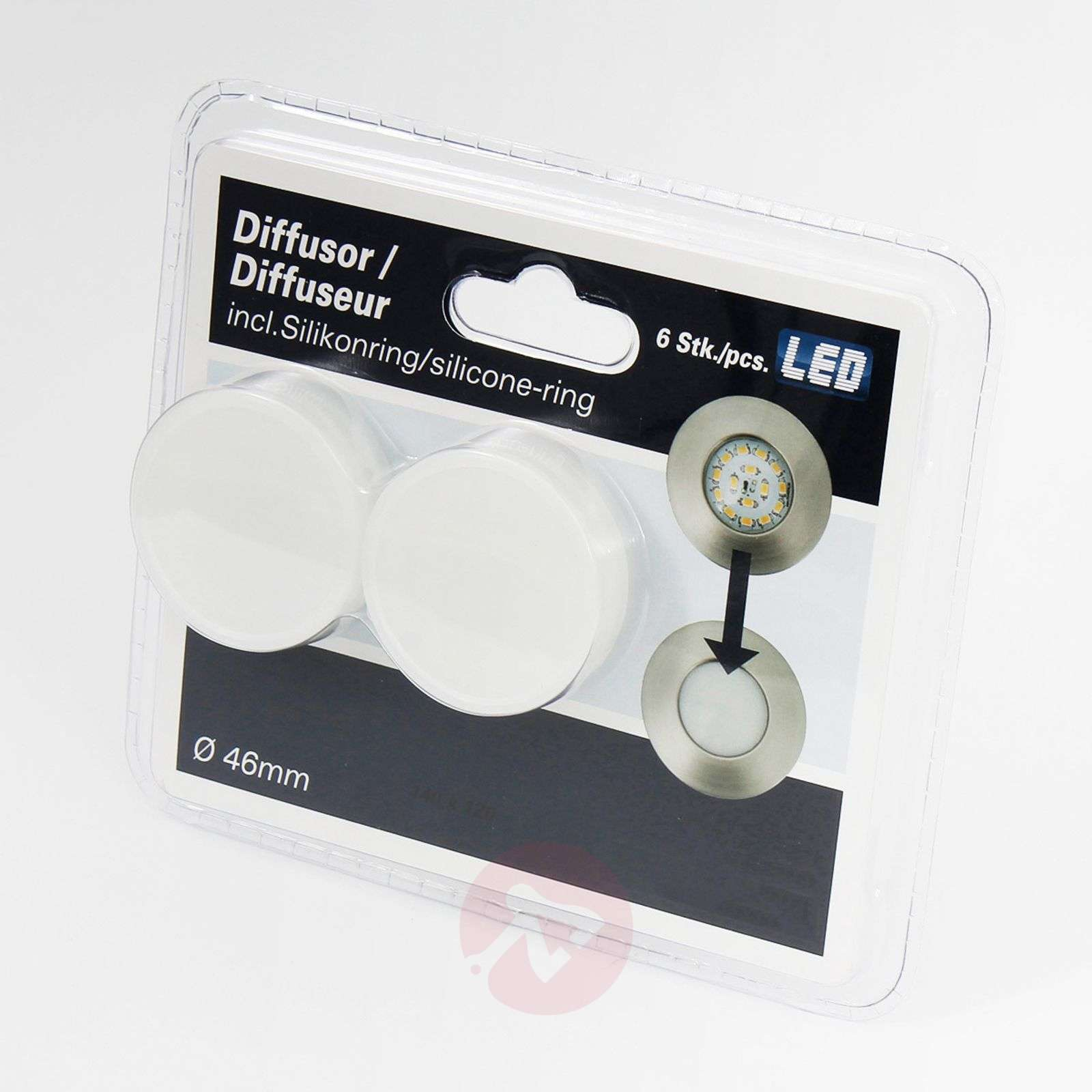 Set de 3 spots encastrés LED Nikas IP44-1510230X-01