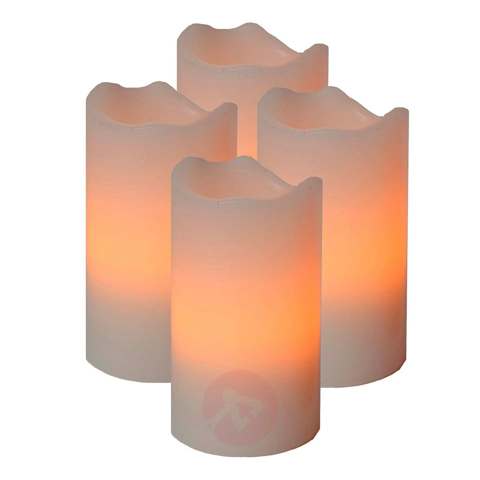 set de 4 bougies led candle avec t l commande. Black Bedroom Furniture Sets. Home Design Ideas