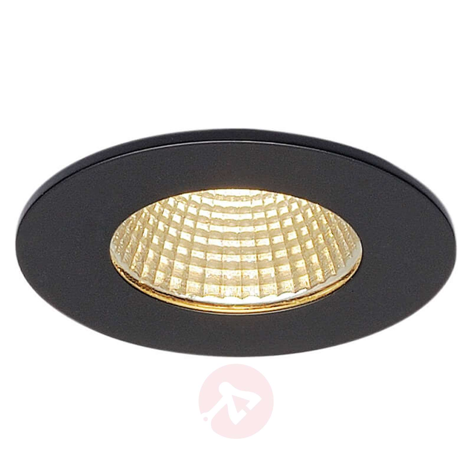 SLV Patta-I lampe encastrable LED ronde, noir mat-5504792-01