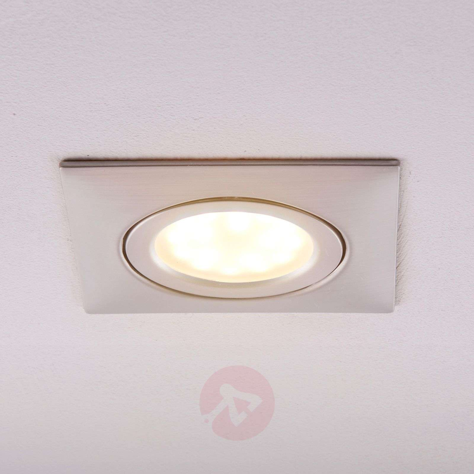 Spot encastré LED Andrej, angulaire, nickel-9620855-03
