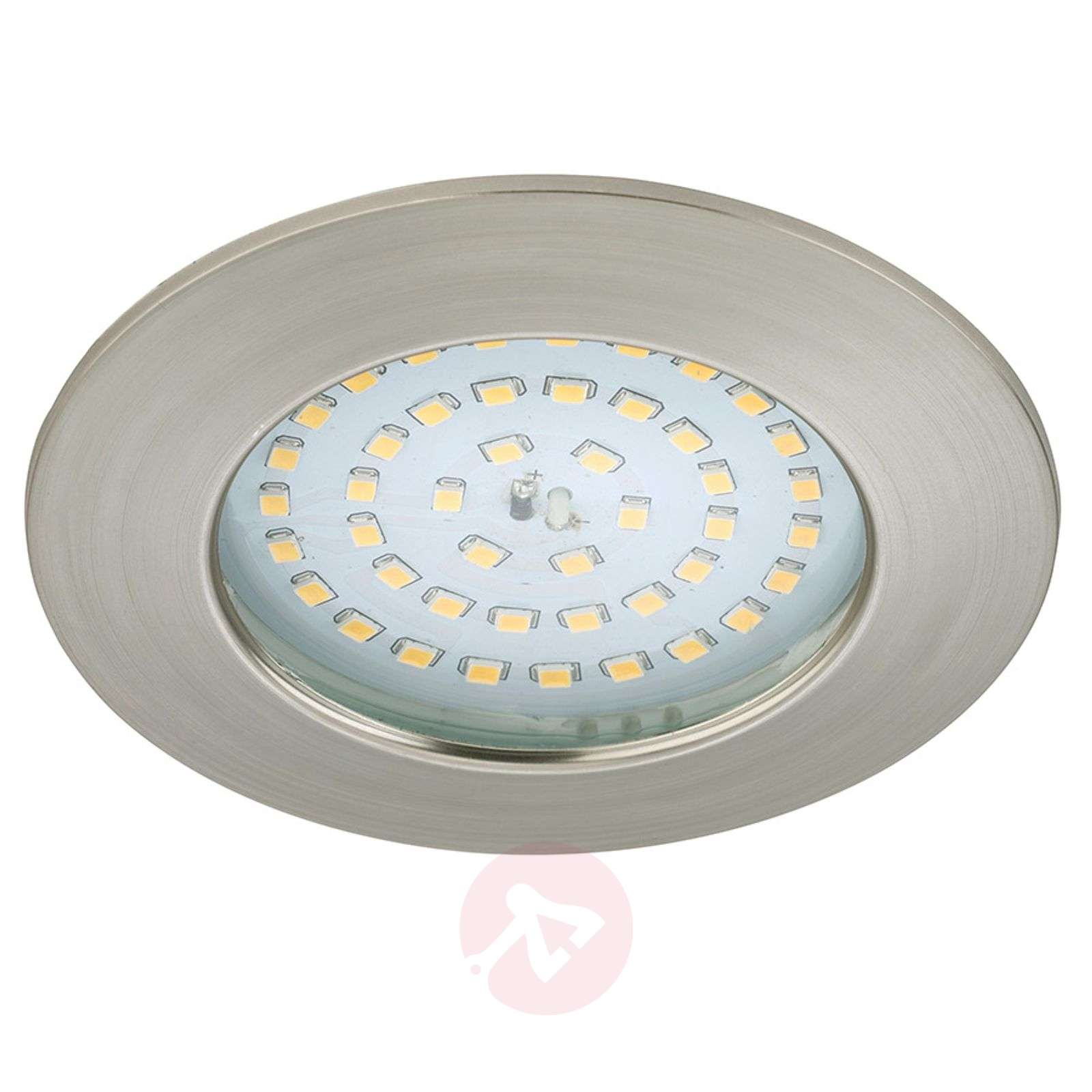 Spot encastré LED Carl pour l'ext., nickel mat-1510337-01
