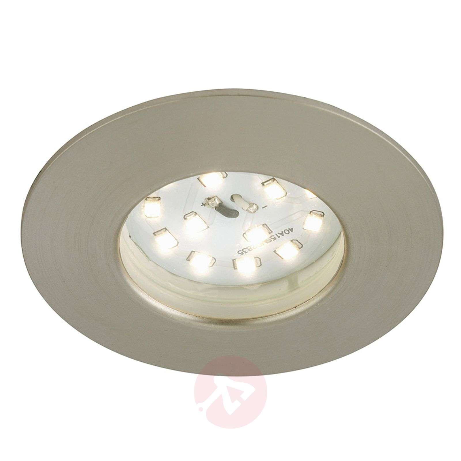 Spot encastré LED Felia IP44, nickel mat-1510318-01