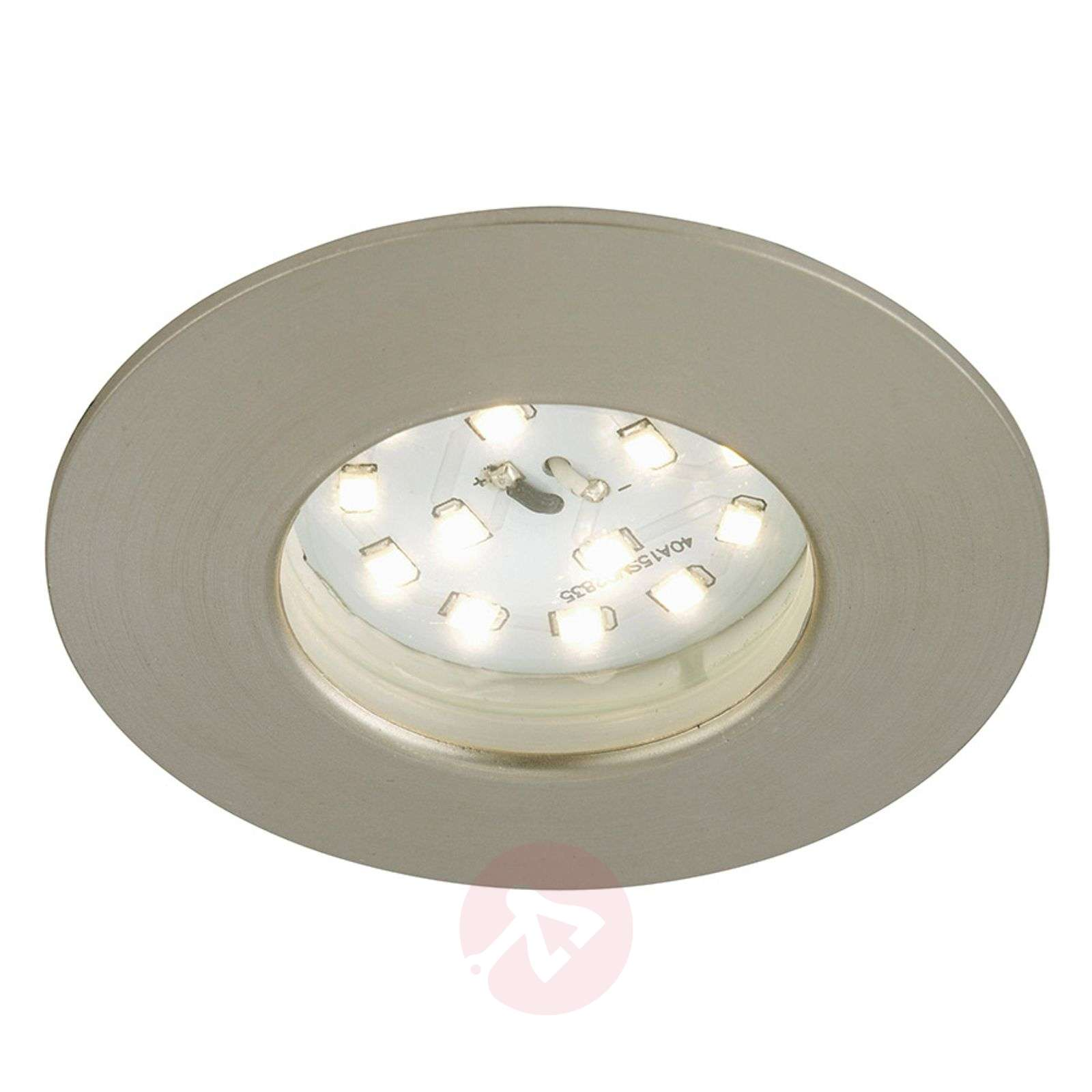 Spot encastré LED Till pour l'ext., nickel mat-1510333-01