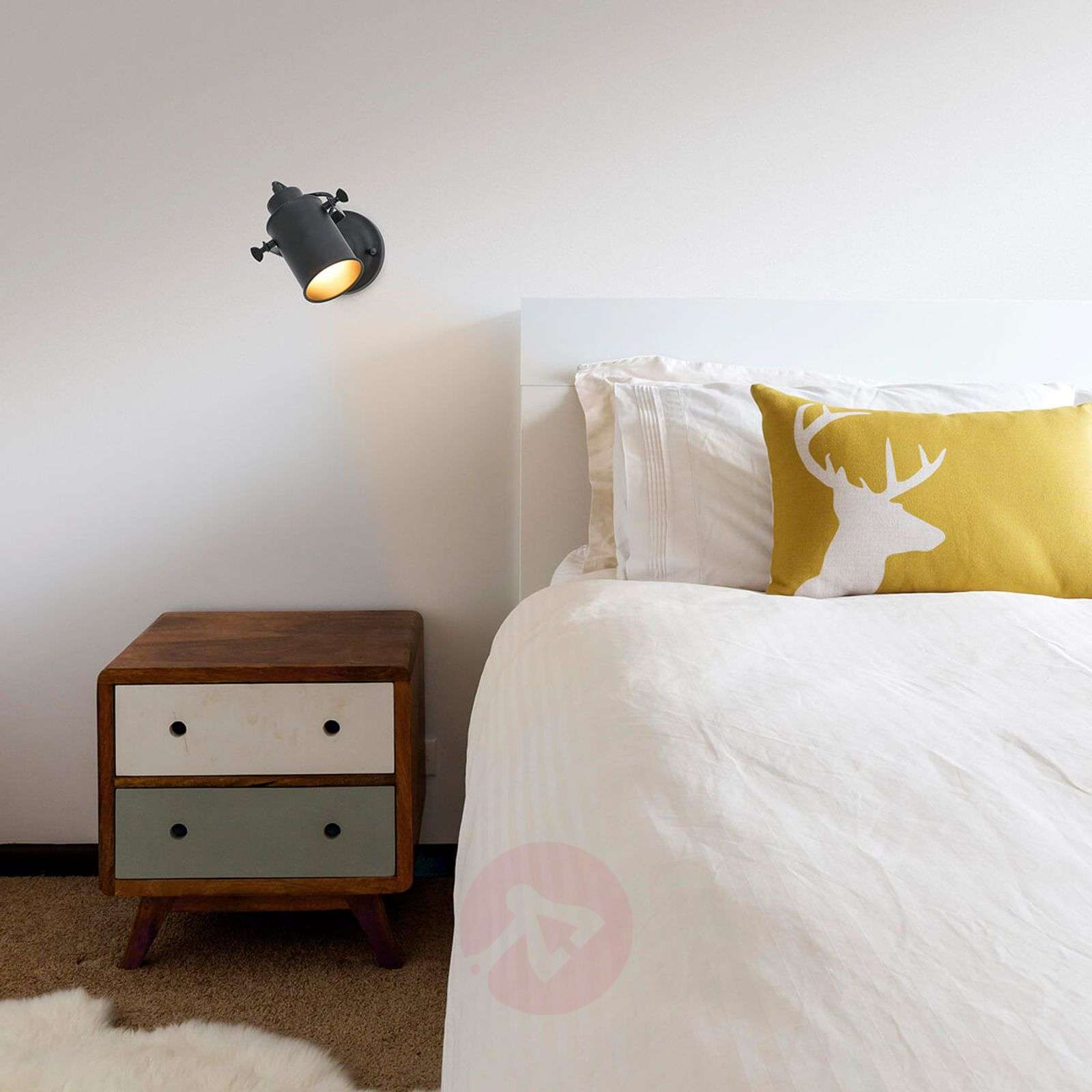 spot mural r tro list 1 lampe. Black Bedroom Furniture Sets. Home Design Ideas