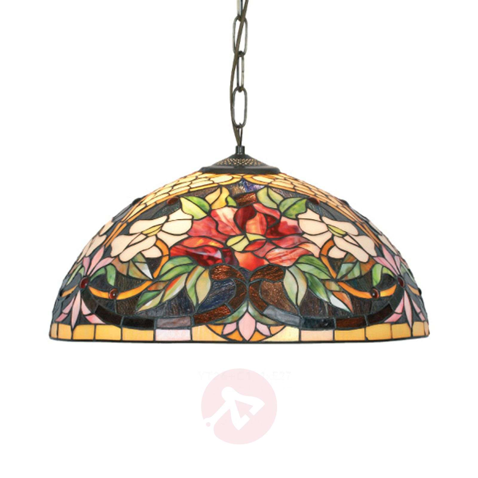 Suspension Ariadne style Tiffany à 2 lampes-1032149-01
