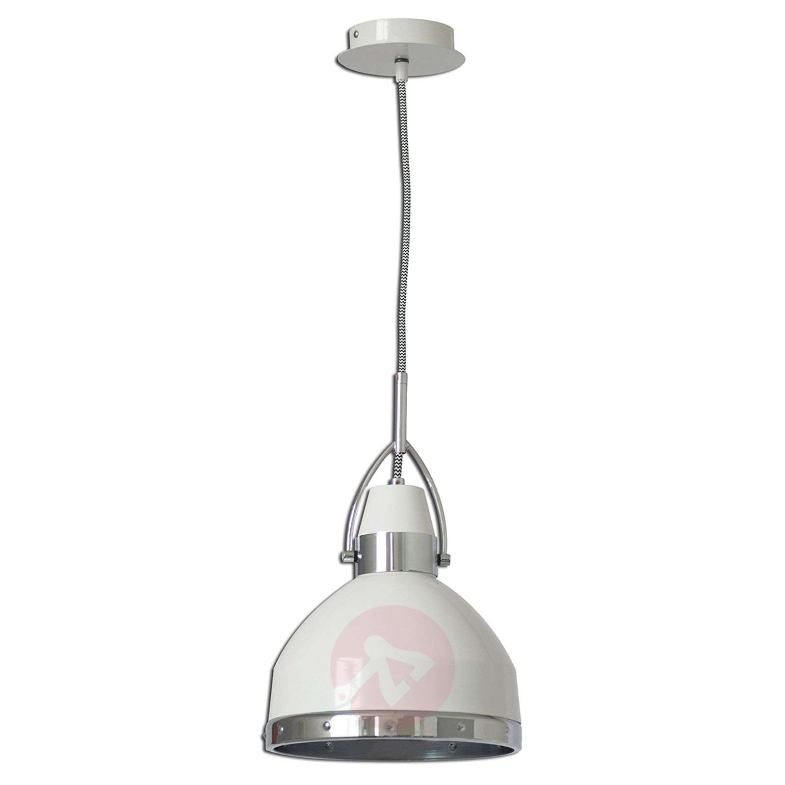 Suspension blanche Britta au design industriel-7000850-01