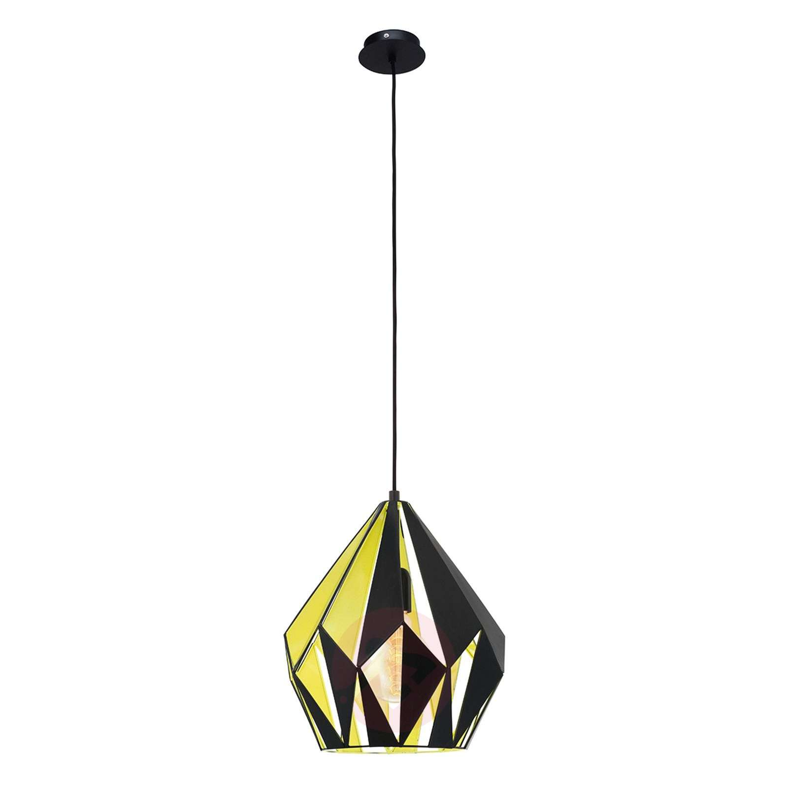 Suspension Carlton noir-jaune-3031608-03
