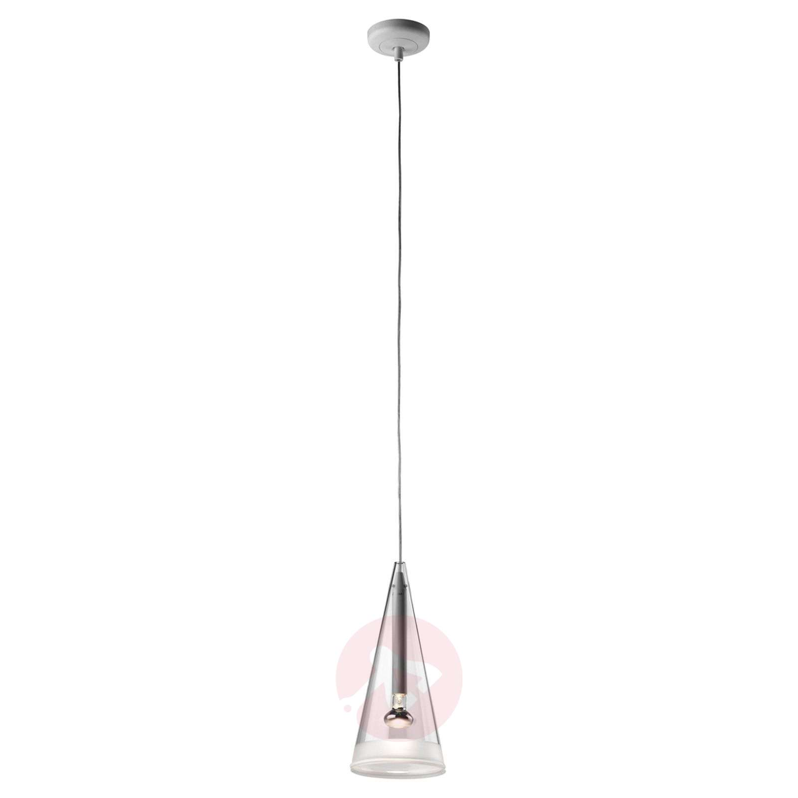 Suspension de verre à 1 lampe Fucsia-3510168-03