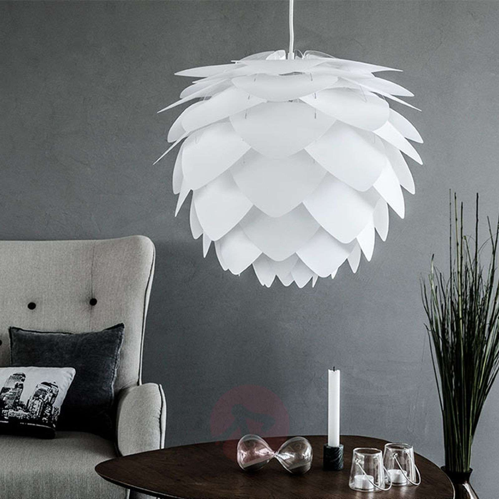 Suspension décorative Silvia medium, blanche-9521020-01