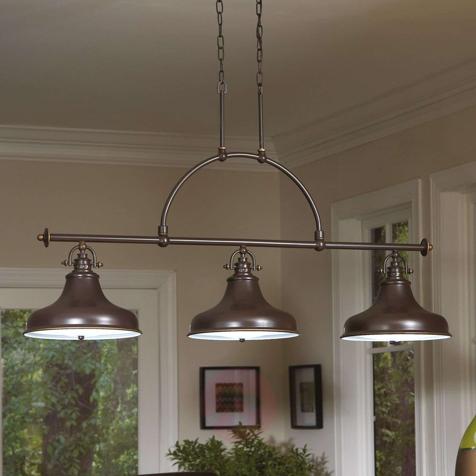 Suspension Emery style industriel bronze 3 lampes-3048324-01