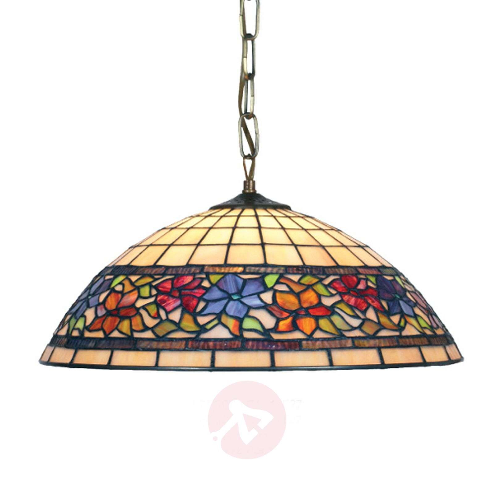 Suspension Flora style Tiffany, bas ouvert 1xE27-1032126-01