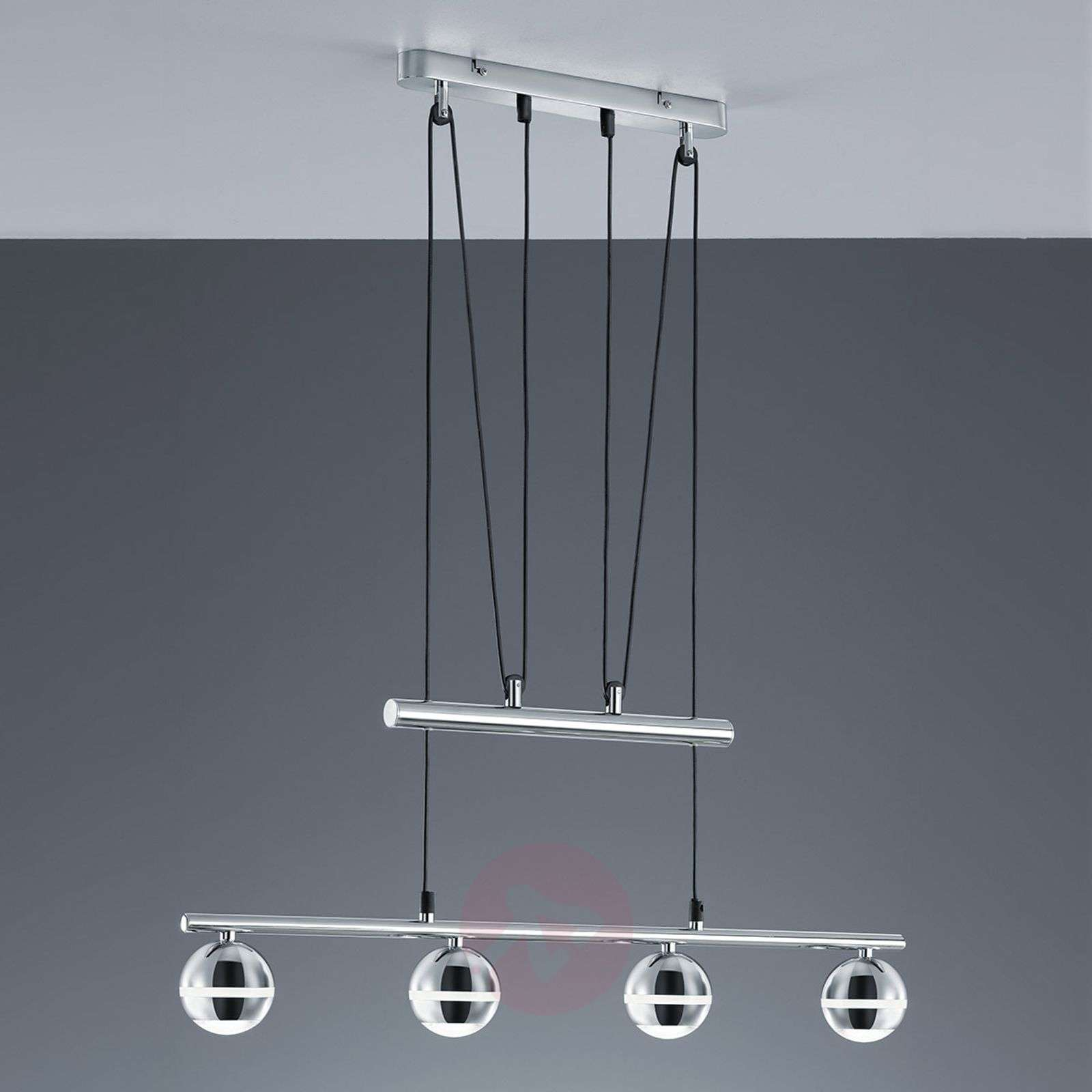 suspension led ada 4 lampes hauteur r glable. Black Bedroom Furniture Sets. Home Design Ideas