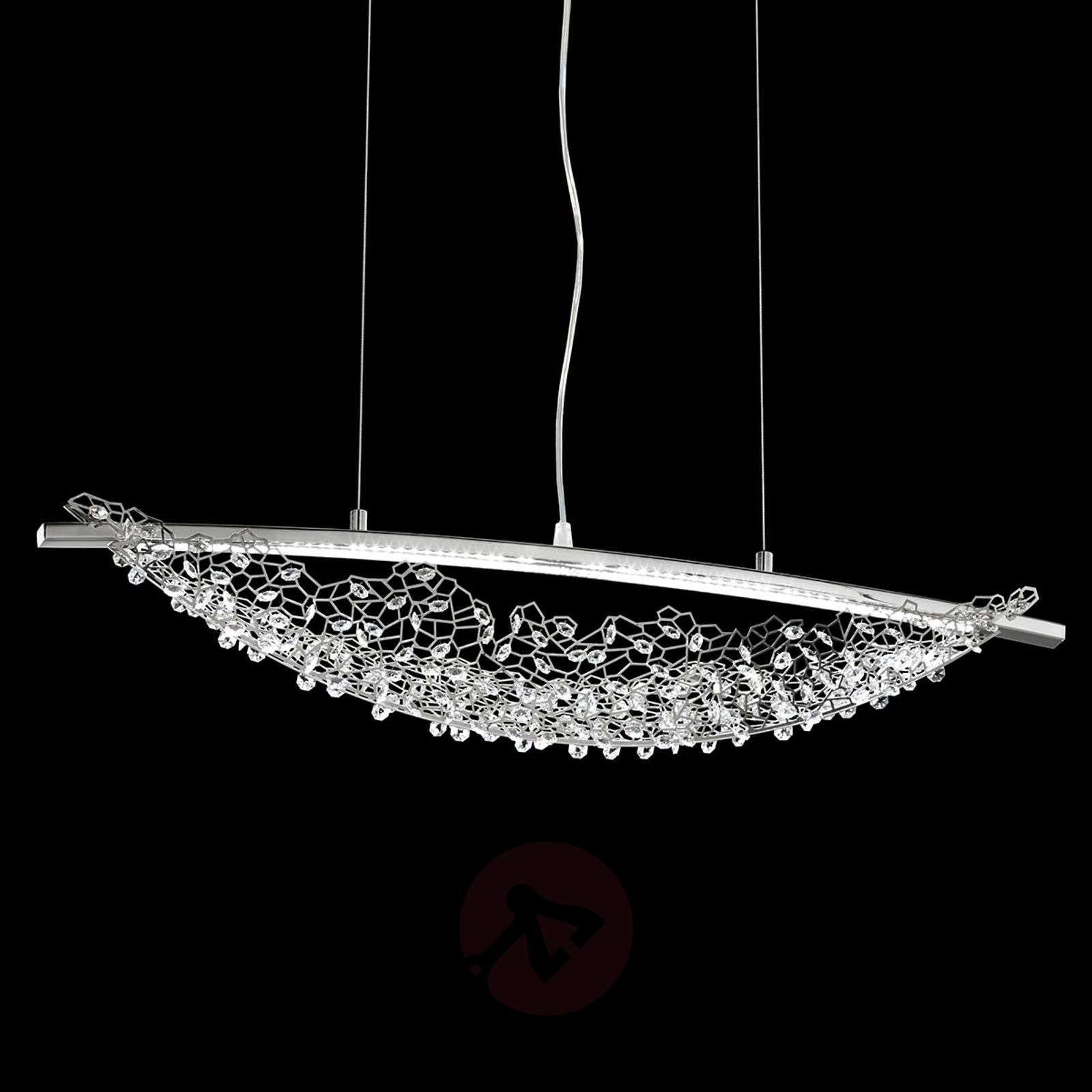 Suspension LED Amaca avec Swarovski, 76 cm-8578004-01