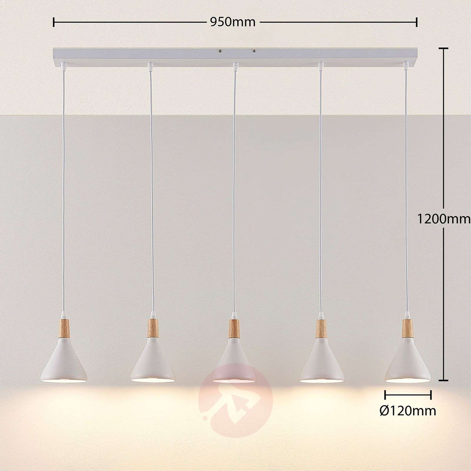 Arina Lampes Led 5 Blanc Suspension À En 6Y7gfby