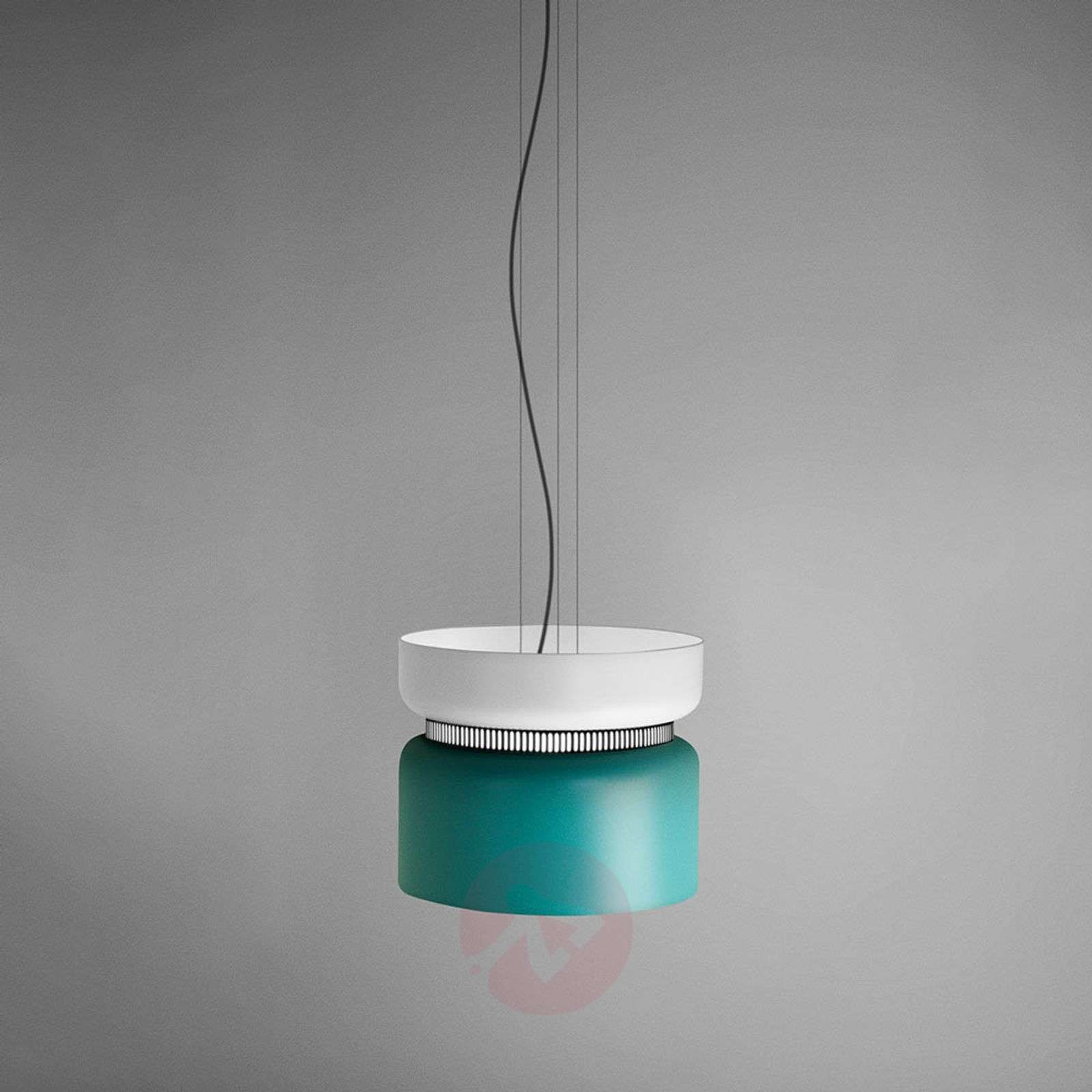 Suspension LED Aspen S blanc-turquoise 40 cm-1514068-01