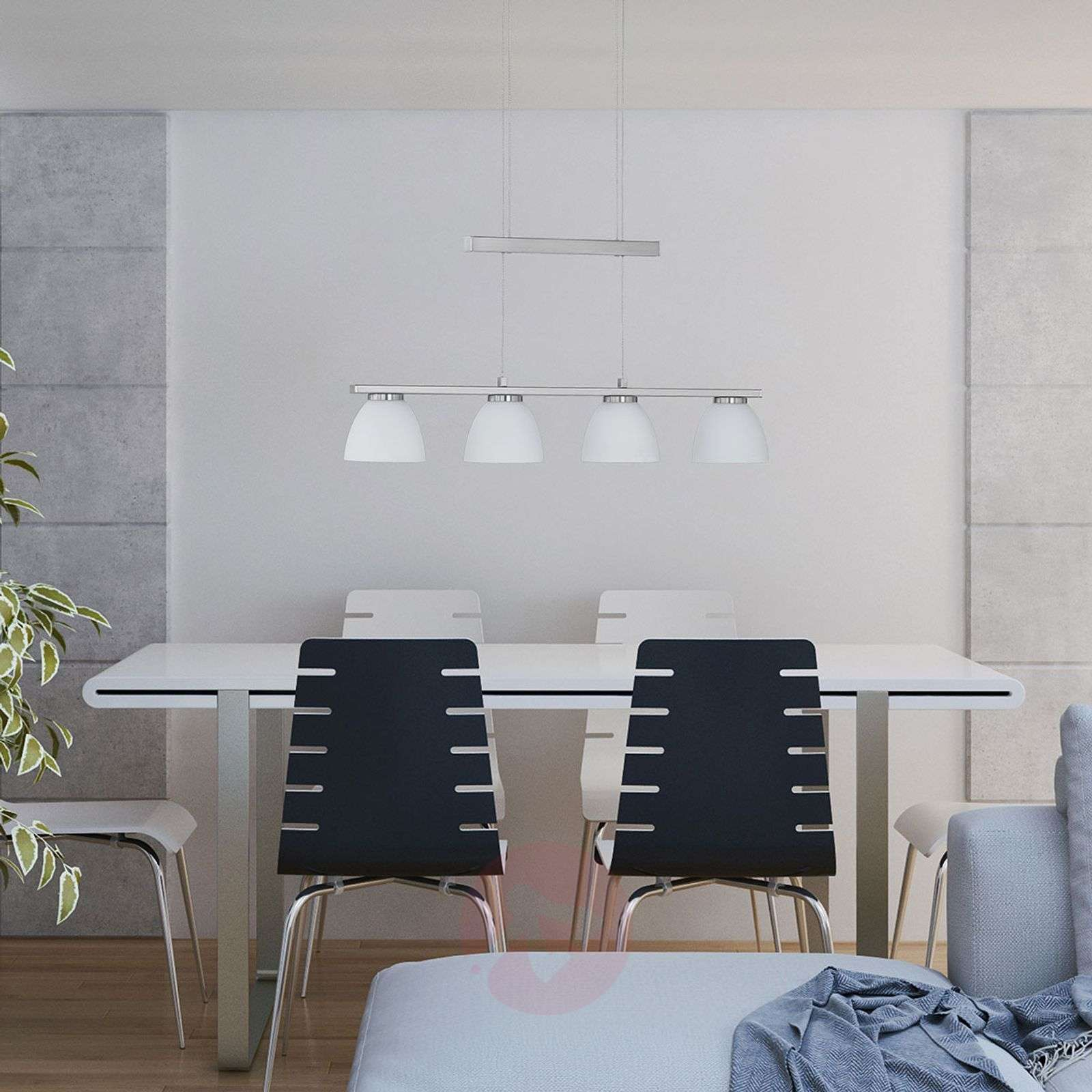 suspension led ava intensit variable 4 lampes. Black Bedroom Furniture Sets. Home Design Ideas