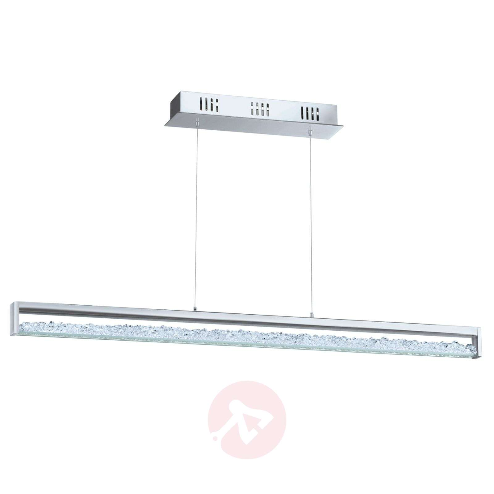 Suspension LED Cardito avec cristal Asfour longueu-3001602-01