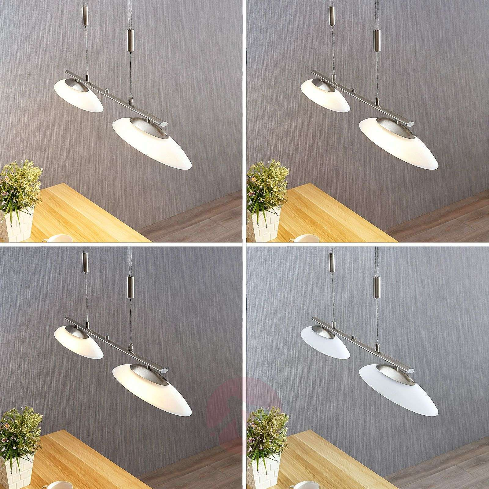 Suspension LED dimmable Judie à 2 lampes-9621306-014