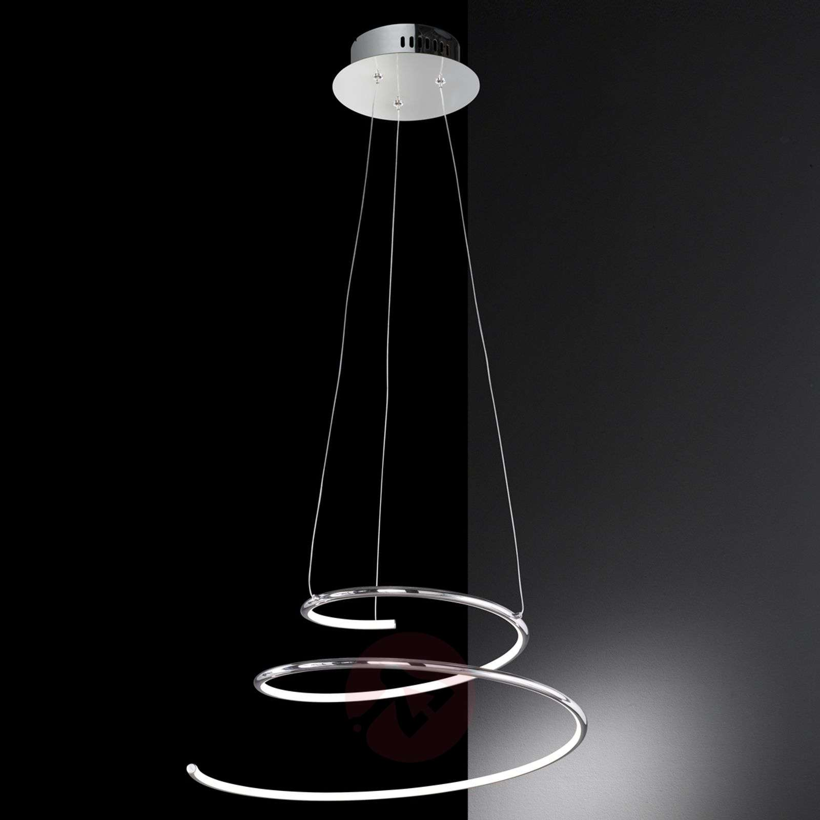 suspension led en forme de spirale visio. Black Bedroom Furniture Sets. Home Design Ideas