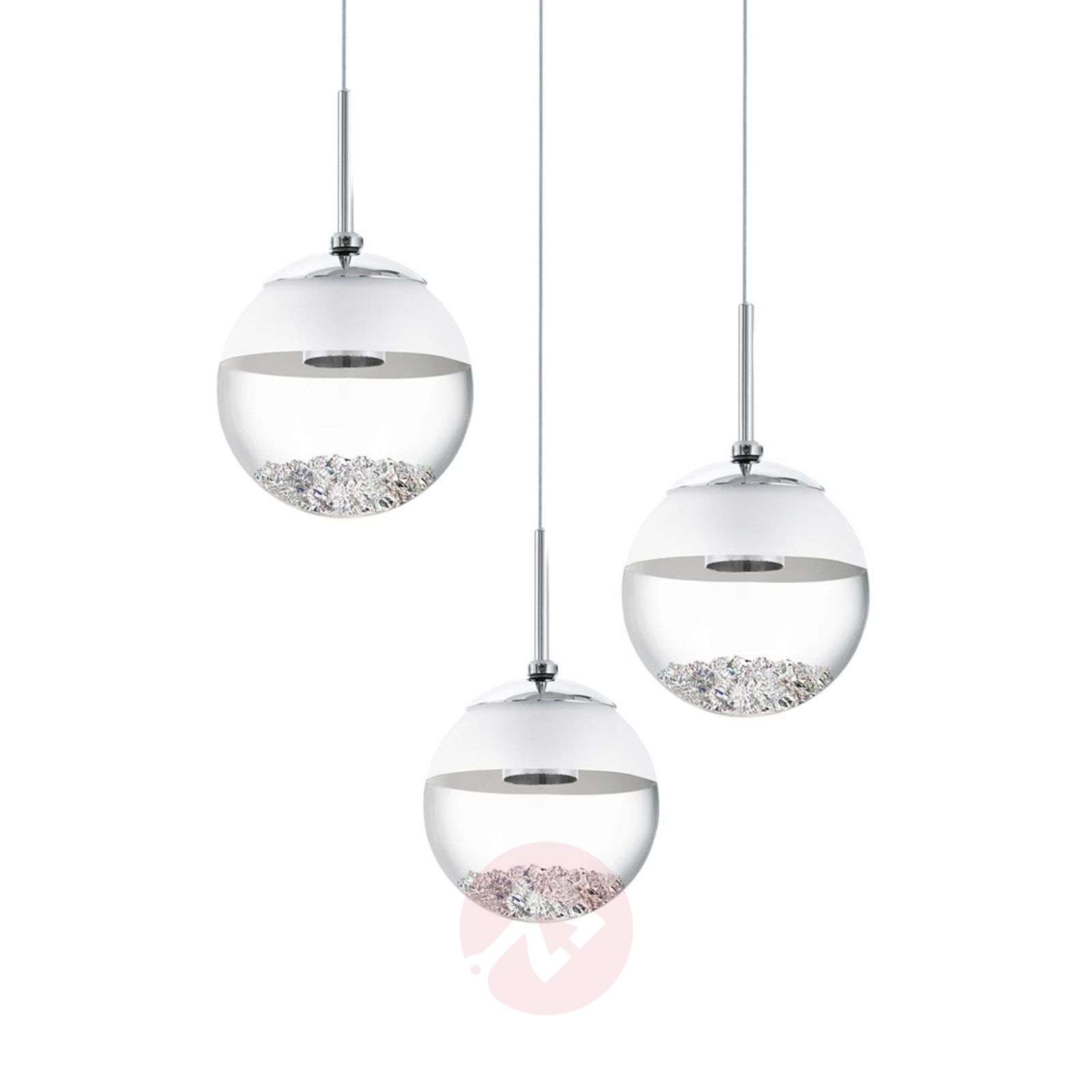 Suspension LED Montefio cristal 3 flammes-3031616-01