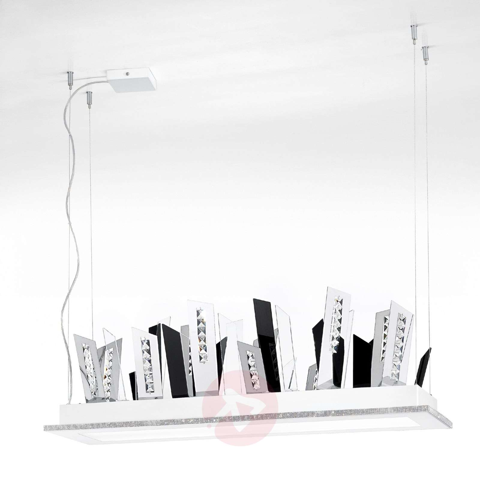 suspension led skyline hors du commun blanc. Black Bedroom Furniture Sets. Home Design Ideas