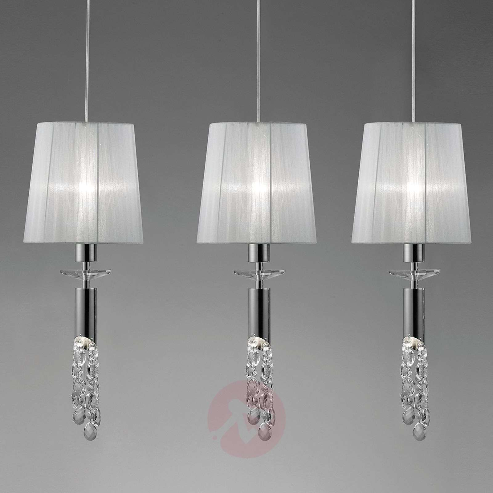 suspension originale lilja en cristal 3 lampes. Black Bedroom Furniture Sets. Home Design Ideas