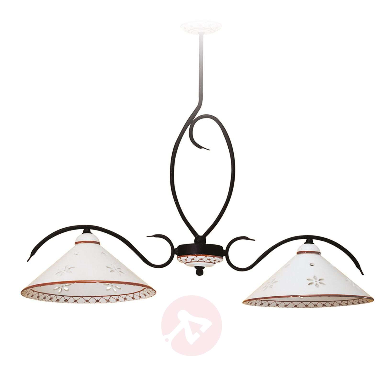 Suspension rampe Bettina à 2 lampes-3046258-01