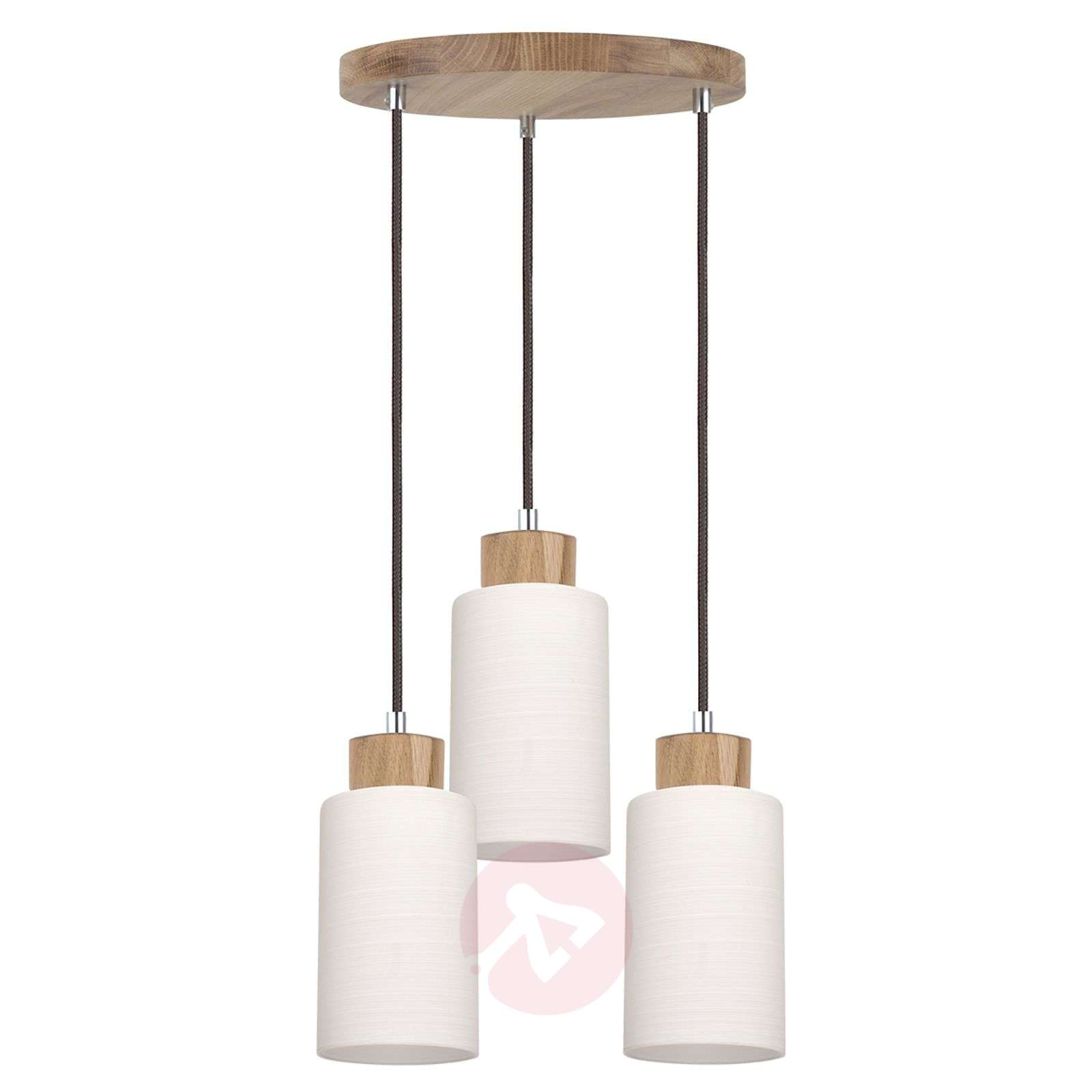 Suspension ronde bosco ch ne huil 3 lampes for Suspension luminaire ronde