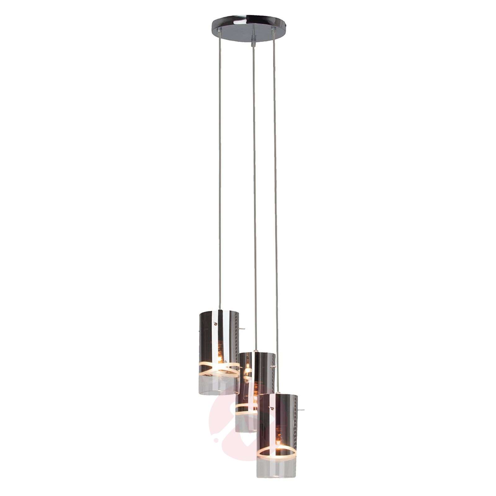 suspension ronde carlow chrom e 3 lampes. Black Bedroom Furniture Sets. Home Design Ideas