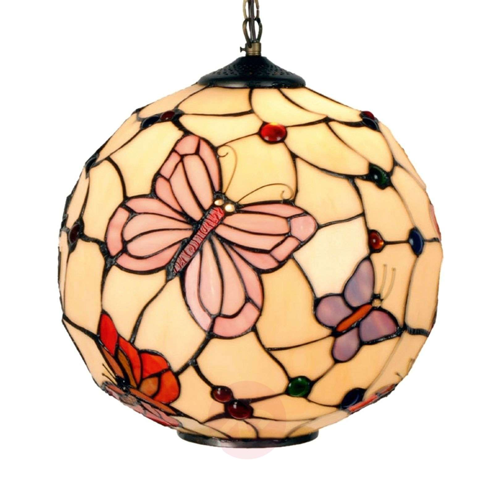Suspension Rosy Butterfly style Tiffany-6064008-01