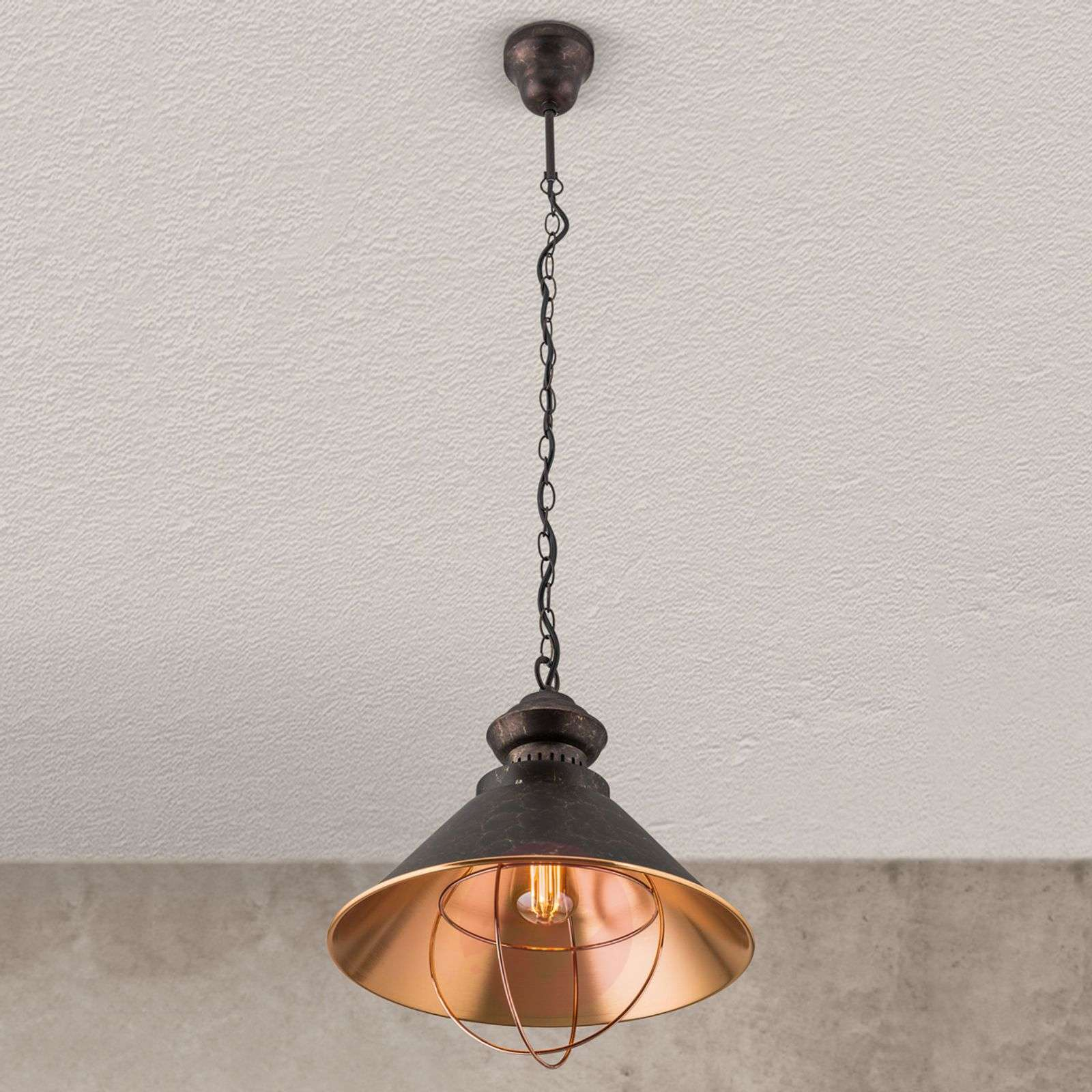 Suspension rustique Shanta, à une lampe-7255169-07